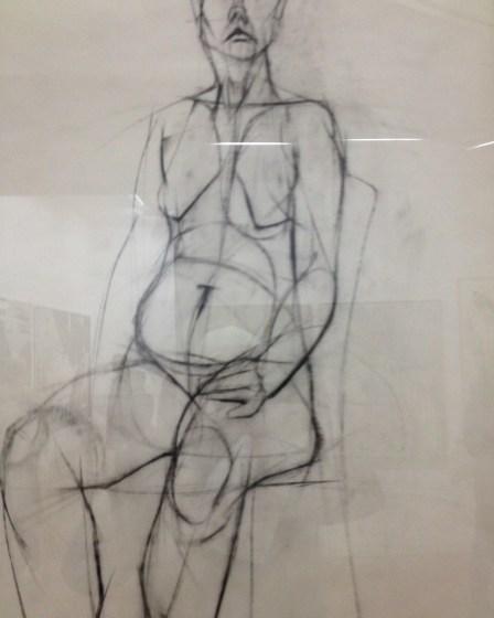 (c) Karl Baumann 2016: Frau von Gérard Fromanger, Centre Pompidou, Paris im April