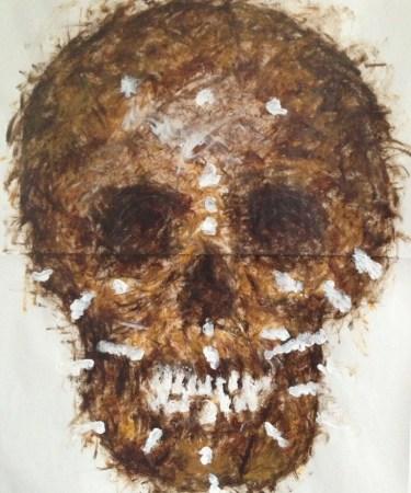 Artemis Athenais: Forensic Skulls, Zeichnung auf Backpapier, 2012
