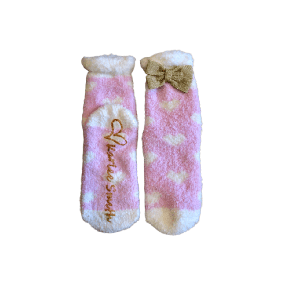 Pink Heart Cozy Socks