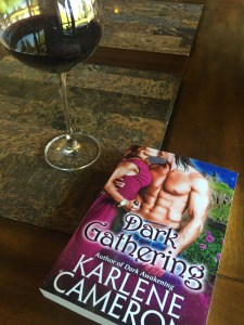 Dark Gathering and Author Karlene Cameron's latest sci fi romance novel