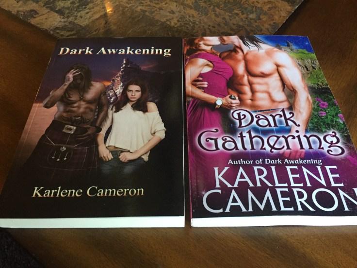 Dark Awakening and Dark Gathering by romance novelist, Karlene Cameron
