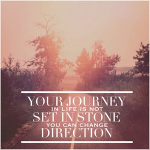 Inspirational Typographic Quote -Your journey in life is not set