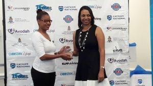 presenting award at CLA