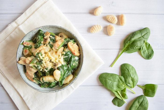 romige gnocchi met kip en spinazie - Karlijnskitchen.com
