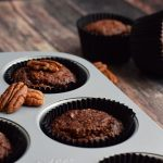 Healthy Chocolate Pecan muffins with a hint of coffee