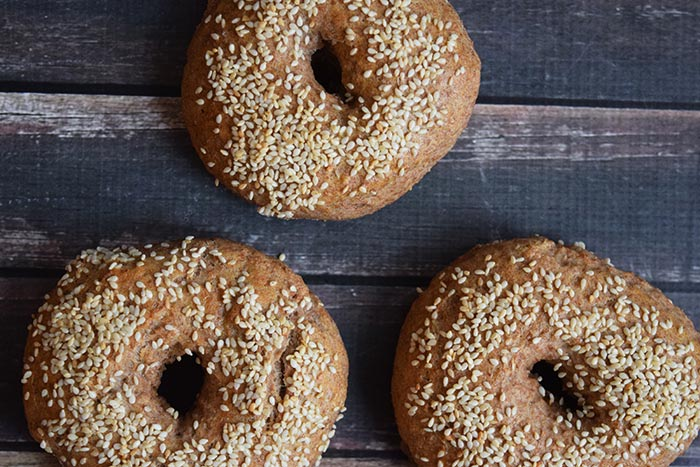 zuurdesem spelt bagels - karlijnskitchen.com