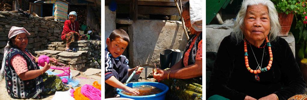 Trekking Nepal mensen