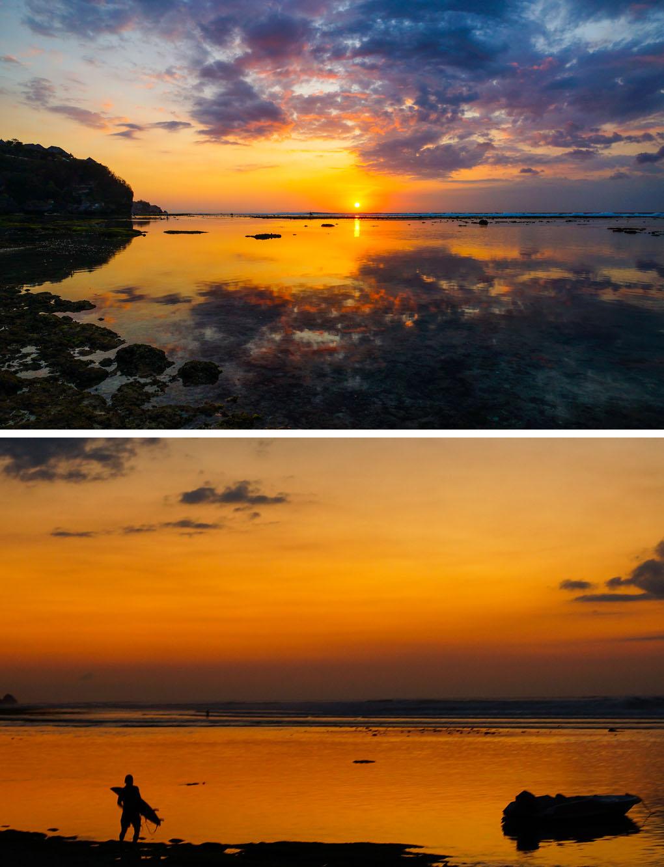 zonsondergangen Uluwatu