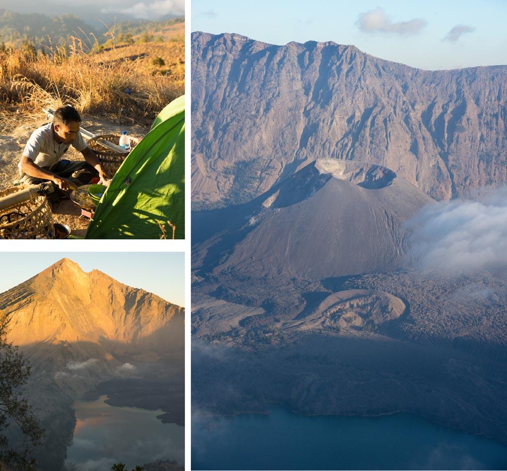 uitzicht Rinjani vulkaan