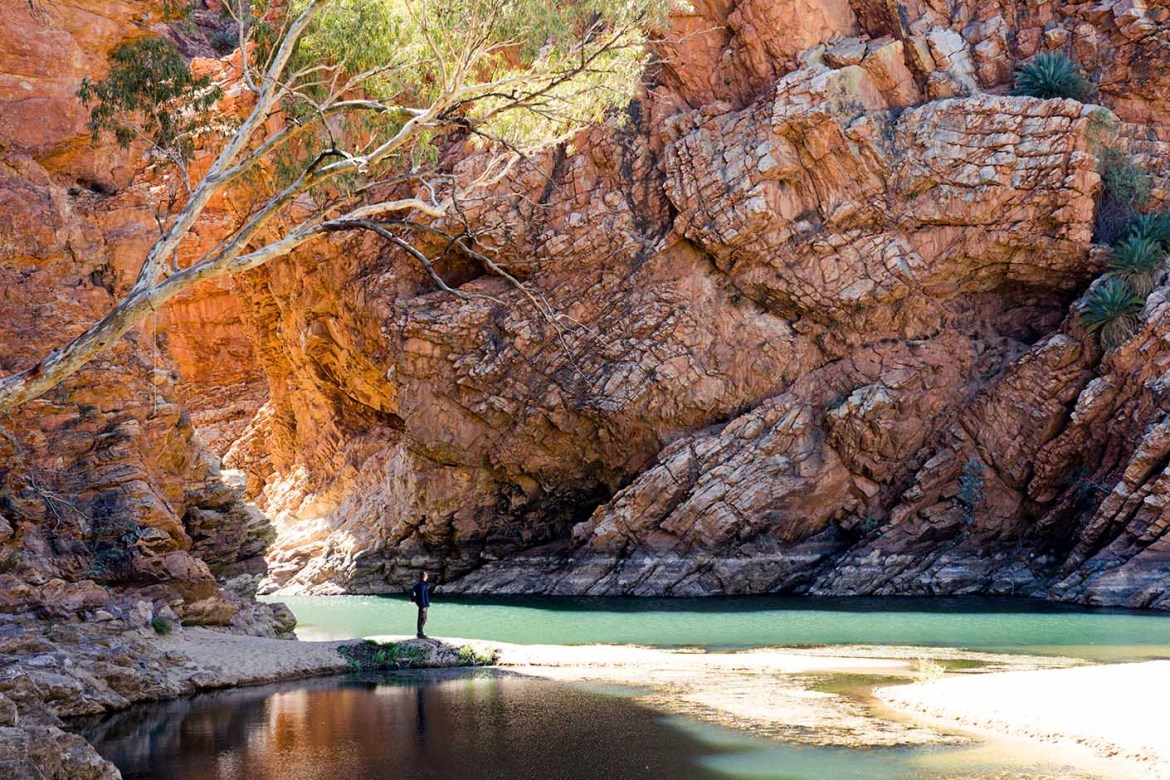 Ellery Creek Big Hole Red Centre rode kloof groene waterpoel