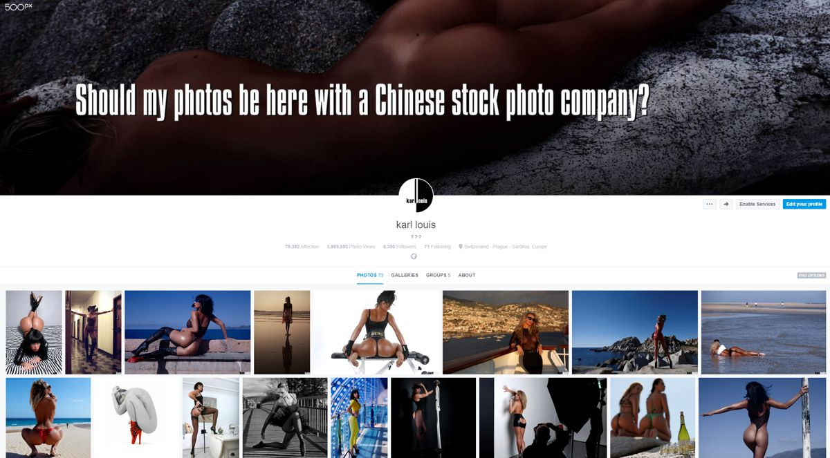500px is now Chinese
