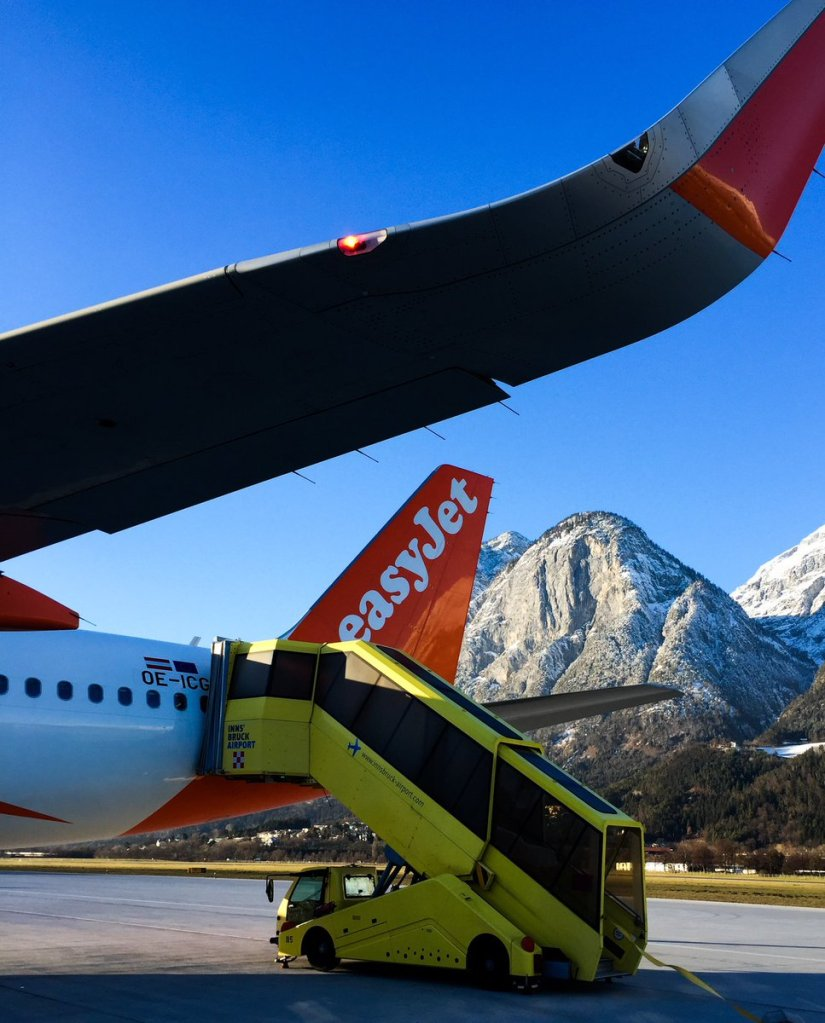 Innsbruck Airport in the Austrian Alps