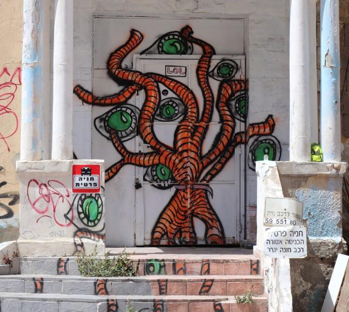 Octopus graffiti in the Yemenite quarter
