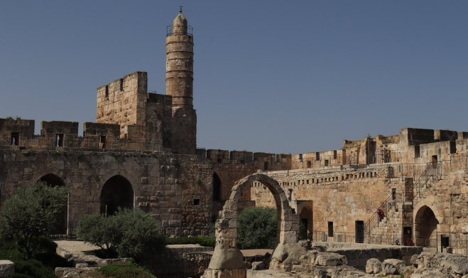 The citadel in Jerusalem, incorrectly named the Tower of David