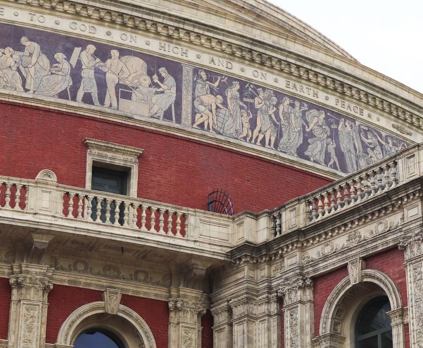 Closer view of exteriors at Royal Albert Hall