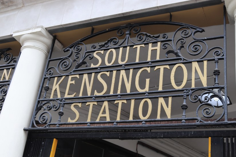 Signage at South Kensington Tube Station