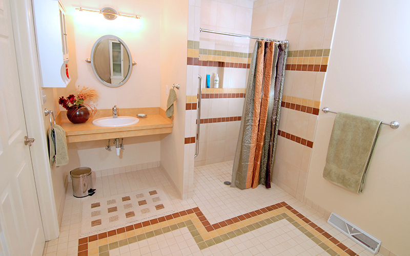 ADA Compliant Bathroom | Shaker Heights Ohio | Karlovec & Company