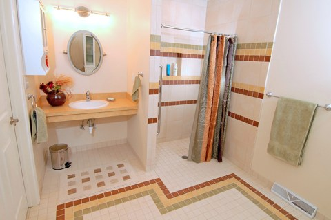 Shaker Square ADA Compliant Bathroom