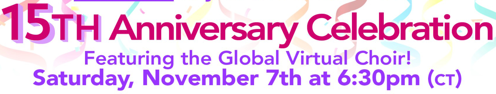 Come join the Parkinson Voice Project 15th Anniversary Saturday, November 7, 2020 6:30pm CST (7:30pmEST)