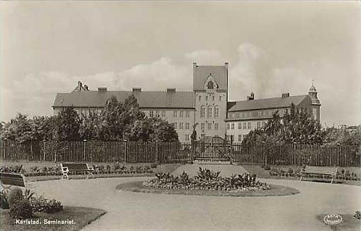 Seminarieparkens östra entré anno 1920