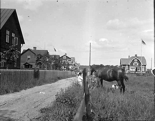 Första Villagatan på Strand i Karlstad ca år 1915