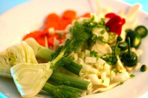 Grönsakerna färdiga