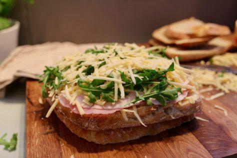 Grilled cheese julskinkemacka