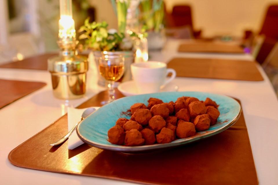 Chokladtryffel med smak av Calvados