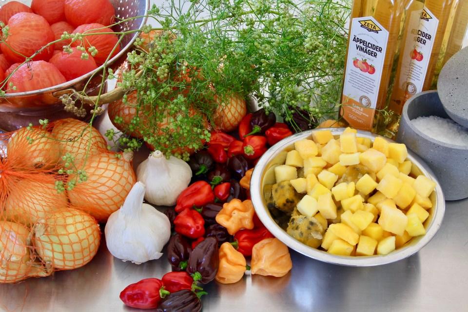 Habanero- och mangosås