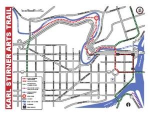 Karl Stirner Arts Trail map