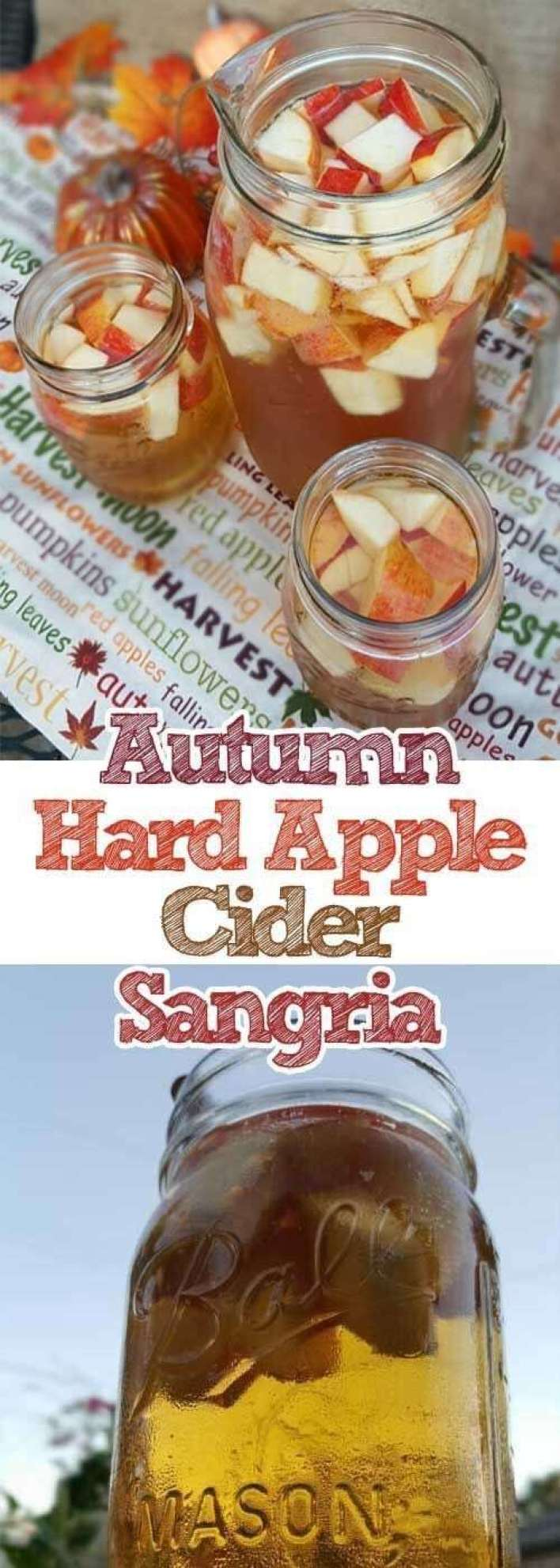 1. Autumn Hard Apple Cider Sangria