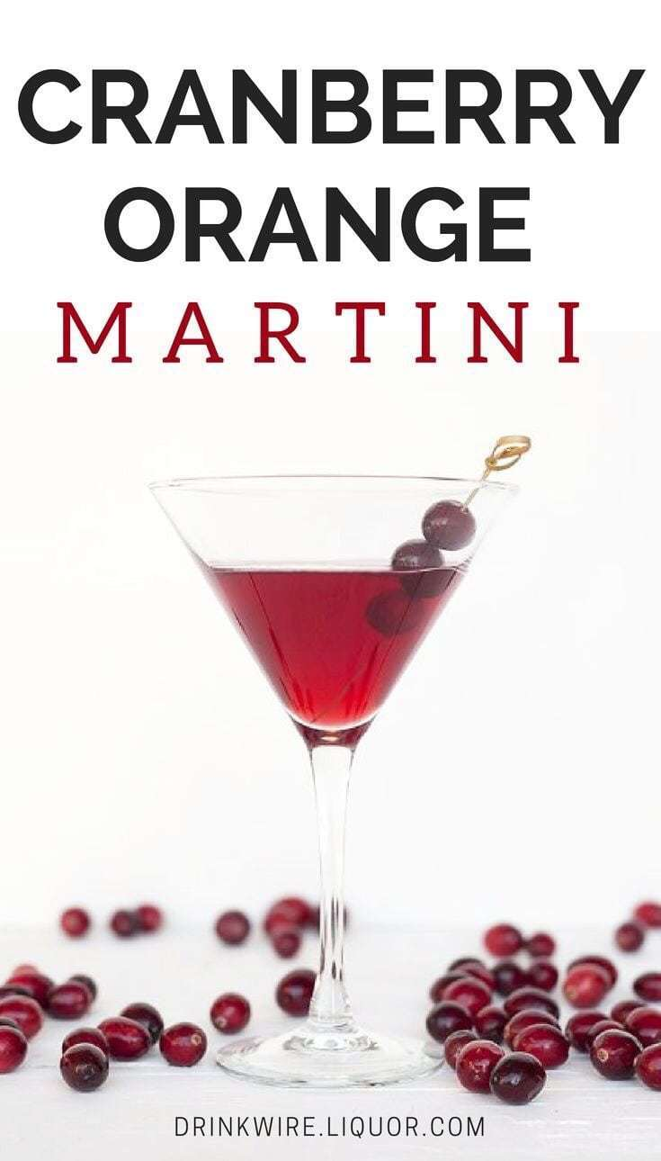 Cranberry Orange Martini