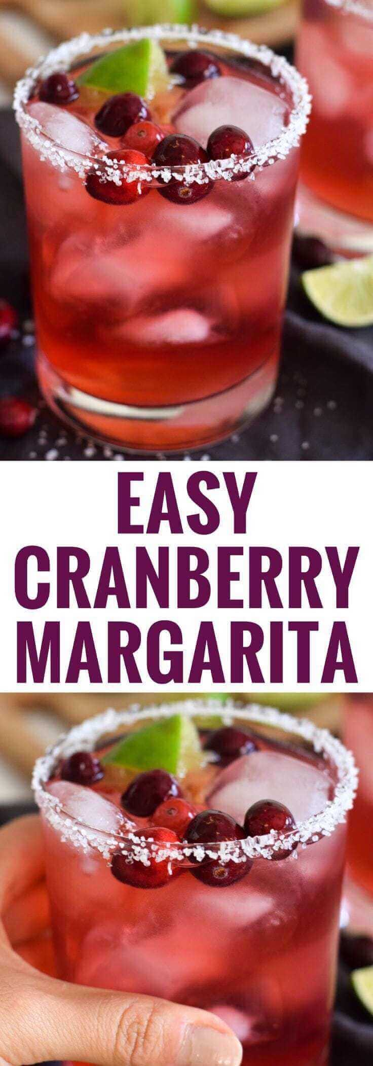 Easy Cranberry Margarita