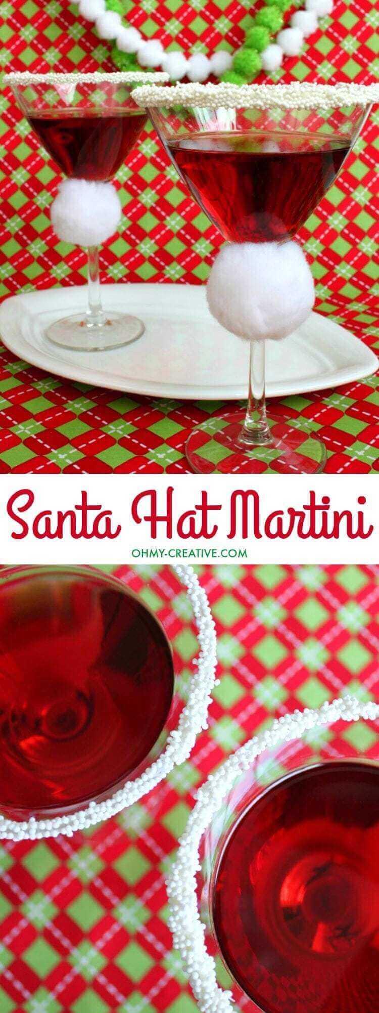 Santa Hat Martini
