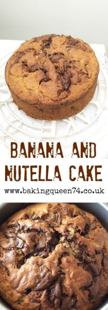 Banana & Nutella Cake