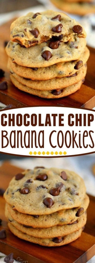 Chocolate Chip Banana Cookies