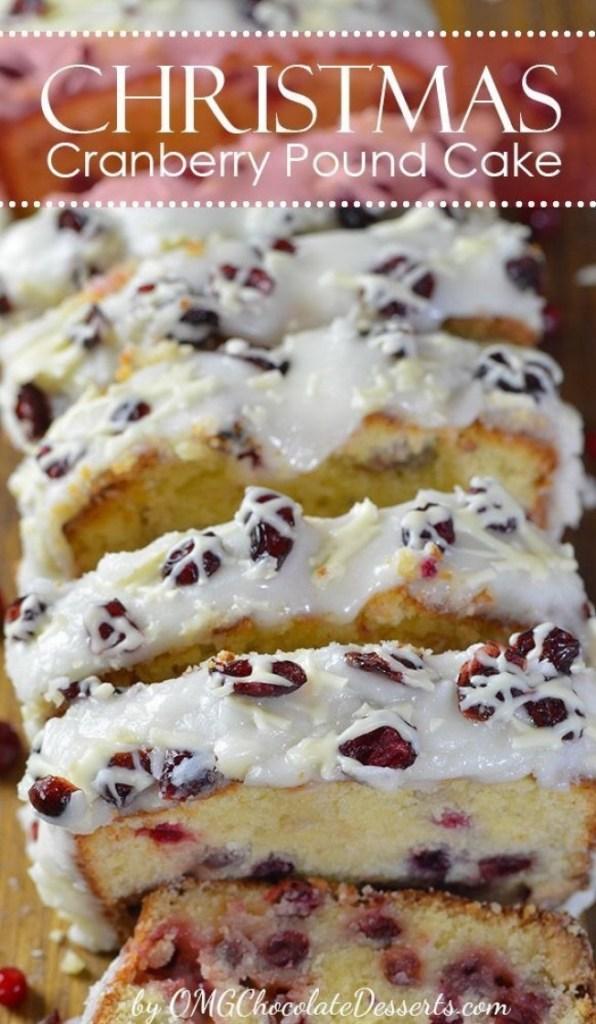 Christmas Cranberry Pound Cake