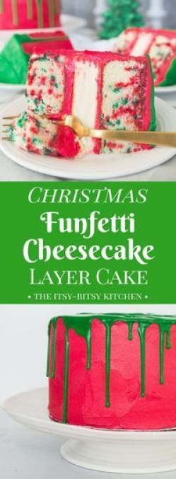 Christmas Funfetti Cheesecake