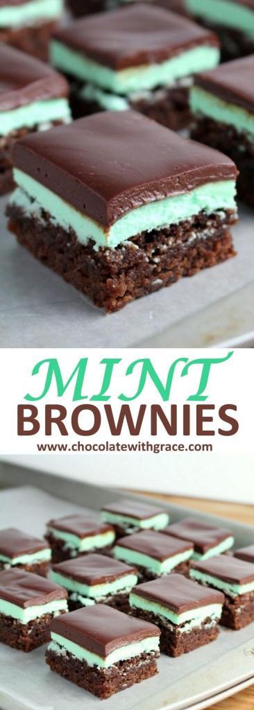 Mint Brownies Chocolate Ganache(1)