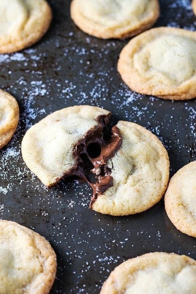 Nutella-Stuffed Sugar Cookies