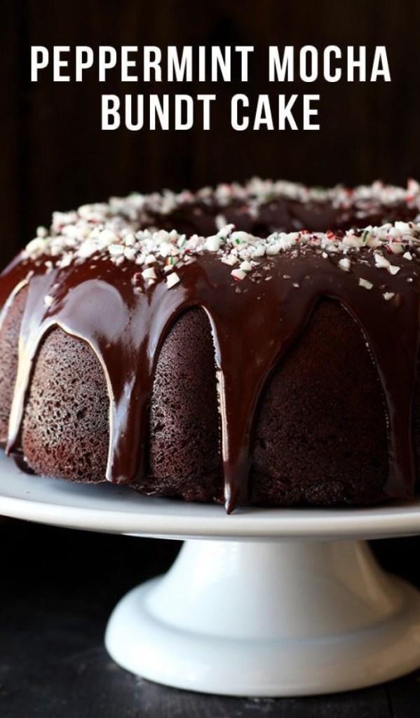 Peppermint Mocha Bundt Cake