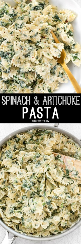 Spinach and Artichoke Pasta