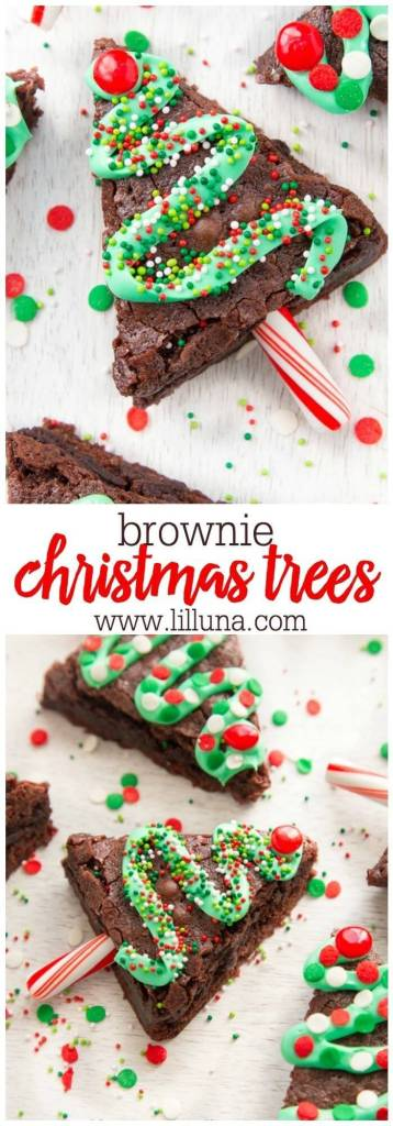Brownie Christmas Tree Treats