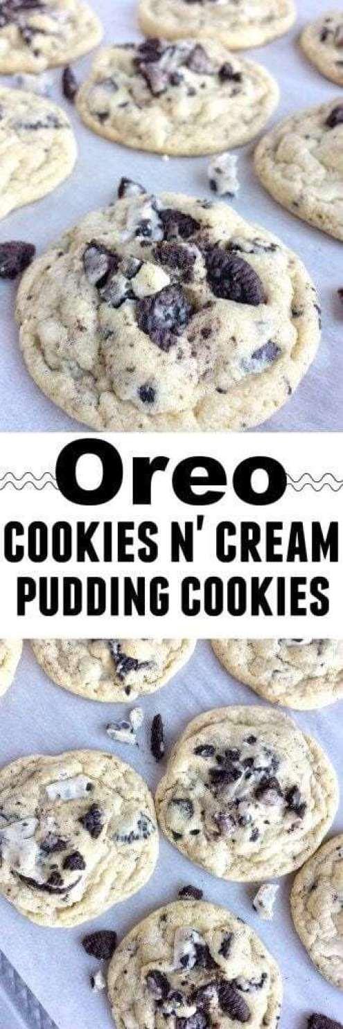 Oreo Cookies 'N Cream Pudding Cookies