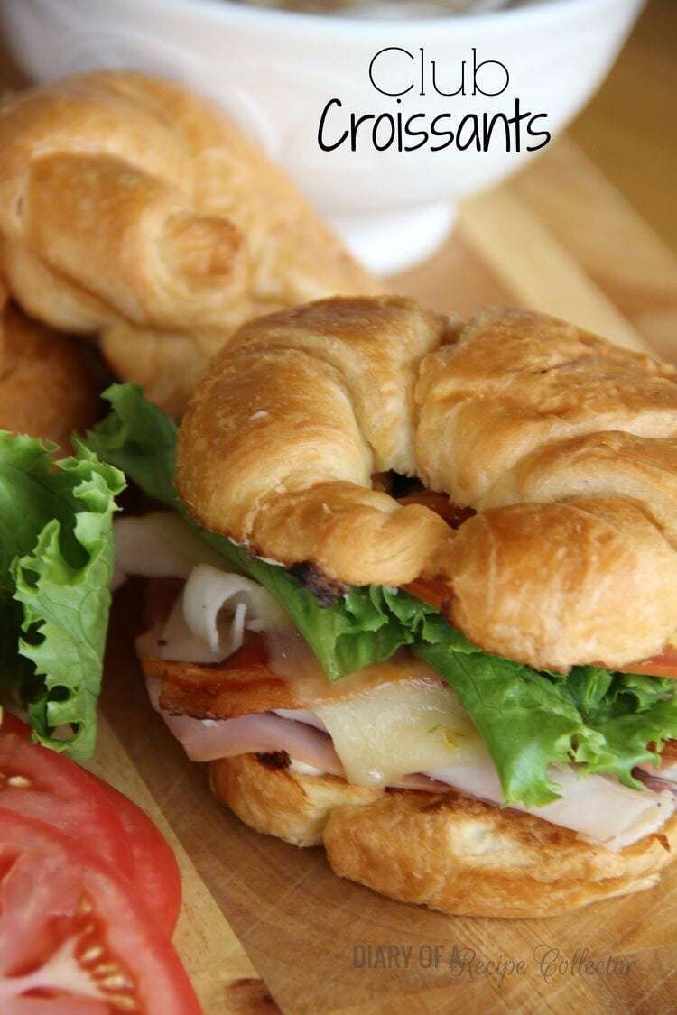 Club Croissants - - 20 Best Croissant Sandwich Recipes