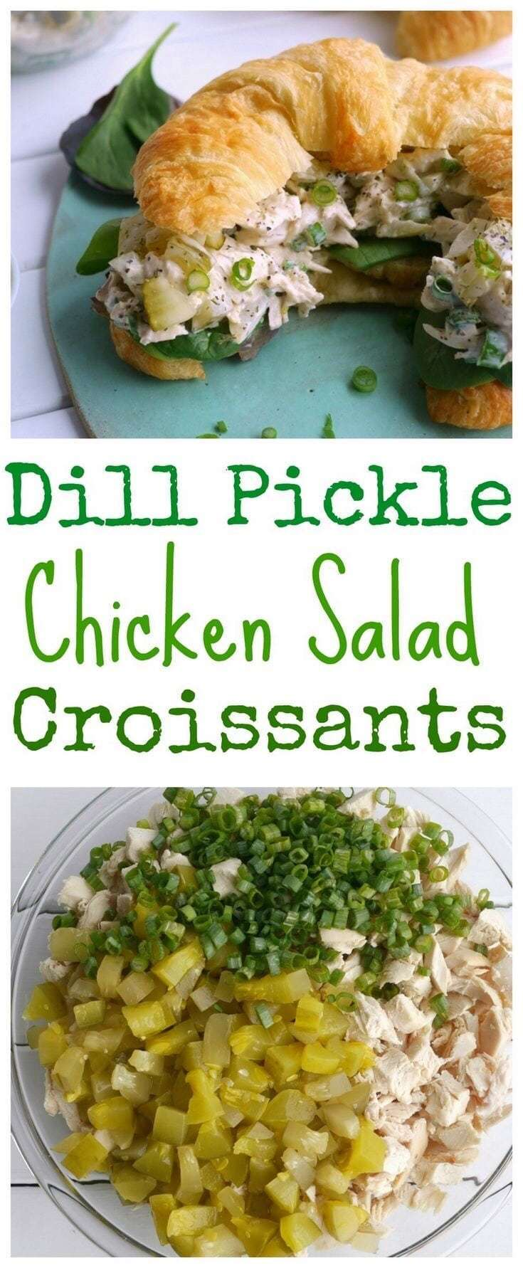 Dill Pickle Chicken Salad Croissants - - 20 Best Croissant Sandwich Recipes
