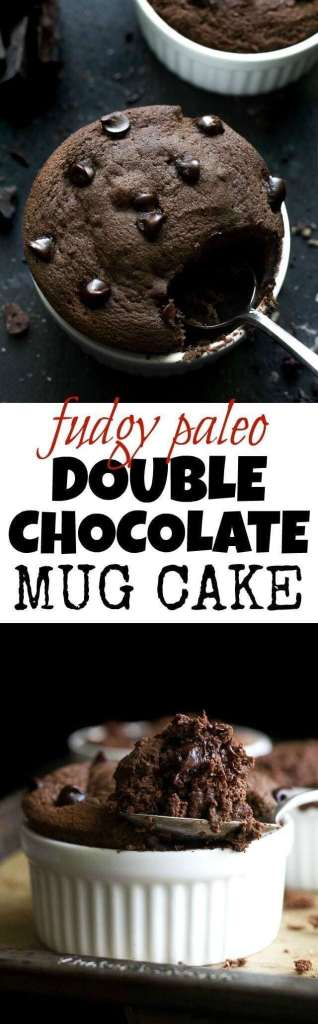 Fudgy Paleo Double Chocolate Mug Cake Easy recipe