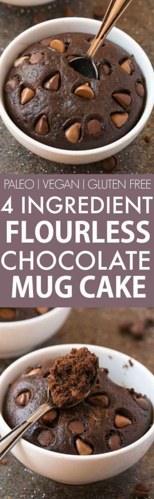 4-Ingredient Flourless Chocolate Mug Cake recipe