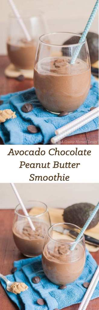 Avocado Chocolate Peanut Butter Smoothie Recipe