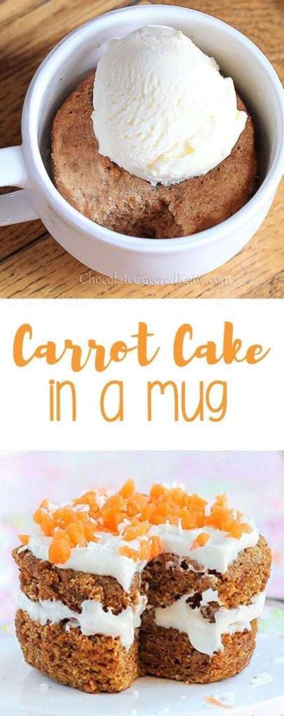 Simple Carrot Cake In A Mug